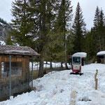 Schneeräumarbeiten im Waldbad
