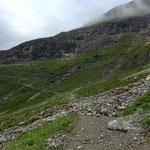 Schadensbegutachtung nach Schlagwetter am 24. Juli Wander- und Mountainbikeweg Stierloch