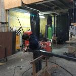 Mastenkonsole fertigen für Beleuchtung Gemeindezentrum