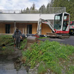 Drainagierungsarbeiten im Waldbad