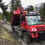 Bauweg schütten mit U530, Waldbad