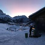 Mülldienst Bernhard's Alpstall, Winterwanderweg nach (Ober-) Stubenbach