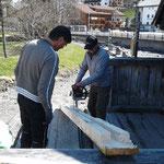 Reparatur Bodenlatte Gedeckte Brücke