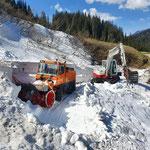 Schneeräumung Satztobel, mit Schneider Erdbau TB 290