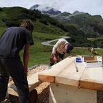Grillplatz neu aufbauen in Oberlech