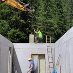 Projekt Zuger Säge, Schalung entfernen