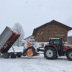 Schneehänger abkippen Schlosskopfparkplatz
