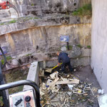Holzsammelstelle aufräumen am Bauhof