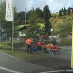 Herbstliche Gärtner-Arbeiten