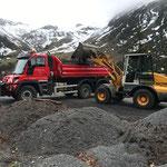 ... auf Unimog 530, Transport zu Böhler Abfall Rankweil