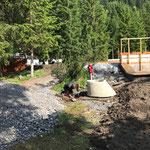 Wasserleitungsarbeiten beim Kinderbecken
