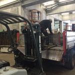 Abladearbeiten Zeltaufbau Schulplatz