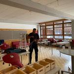 Volksschule und Neue Mittelschule: Lampenmontage