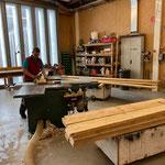 Holz vorbereiten für das nächste Element...