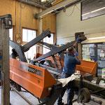 Reparaturarbeiten Fahrcontainer Deutz
