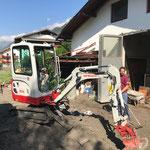 Unterstützung durch Bauhof Lech Team mit 6 Mann...