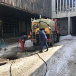 ...für Rohrleitungen spülen rund um den Ölabscheider am Bauhofvorplatz