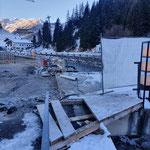 Winter-Rückbaumaßnahmen Baustelle Gemeindezentrum