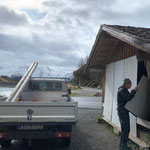 Buswartehütten und WC's Spullersee (Bild) und Formarin winterfest machen