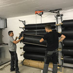 sport.park.lech Rückbau nach Veranstaltung Maschinenring, versorgen der Bodenmatten