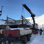 ...für Transport Brücke, mit Transporte Elsensohn, Steyr 6190 CVT mit Göglhänger