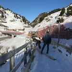 Winterwanderweg Zürs-Lech, Abschnitt Hexenboden-Seekopf fertig vorbereiten