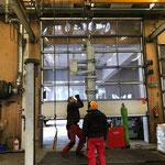 Lawinenorgel für Guggiskante aufbauen in der Werkstatt
