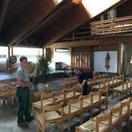 Kirchenbestuhlung wiederherstellen