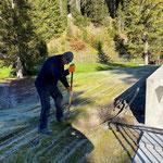 Waldbad, Elektrozuleitung Poolabdeckung umlegen, Aquafitbecken