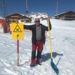 Winterwanderwegpflege in Oberlech