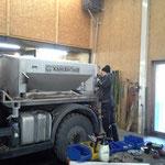 Optimierungsarbeiten für den Streuer des U400