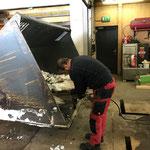 Schneeschaufel reparieren Lader 524