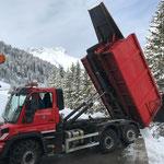 Schnee abkippen aus Schneedepots, U530