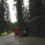 Astwerk verladen im Engerle Wald, mit Steyr 6190 CVT