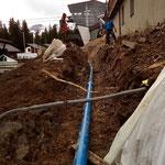 Wasserleitungsbau Oberlech Burg