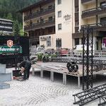 Bühnenbau Rüfiplatz für ACCR