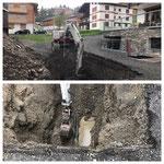 Wasserrohrbruch in Oberlech