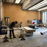 Arbeiten in der Tischlerei für Biwakschachtel und Wegesanierungen
