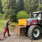 Forstarbeiten Chalberwold, Vorbereitungsarbeiten