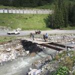 Demontage kaputte Wieselebrücke