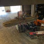 Aufräumarbeiten in der Bauhofhalle