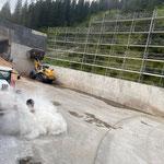 Kehrarbeiten für Heizwerk Lech vor der wöchentlichen Zugertalrunde...