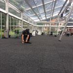 Teppich nachjustieren ACCR-Zelt