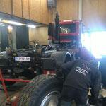 Winterreifenmontage bei Unimog 530