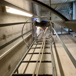 Schlauchturm: Demontage Leitern