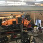 Reparaturarbeiten an der Rolba 1500