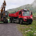 Mit U530 und Schneider Radbagger 918
