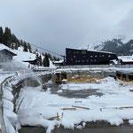 Schneeräumarbeiten Baustelle Gemeindezentrum