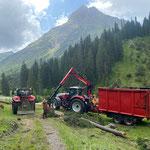 """Forstarbeiten beim Heizwerk Lech, """"Brandholz"""" aufarbeiten"""