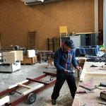 Holzböcke-Produktion in der Tischlerei